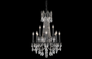 "Rosalia 24"" Chandelier with 12 Lights - Dark Bronze Finish / Royal Cut Crystal"