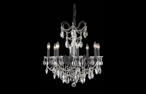 "Athena 23"" Chandelier with 8 Lights - Dark Bronze Finish / Royal Cut Crystal"