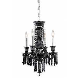 Majestic 17 crystal mini pendant chandelier with 4 lights black majestic 17 crystal mini pendant chandelier with 4 lights black finish and black crystal chandelier aloadofball Choice Image