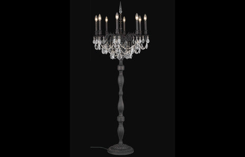"Rosalia 24"" Crystal Table Lamp with 8 Lights -  Dark Bronze Finish"