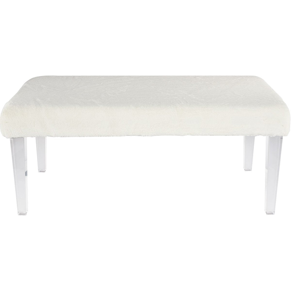 Electron 40 X 18 Bench - White & Clear Finish (Af1001) Bench