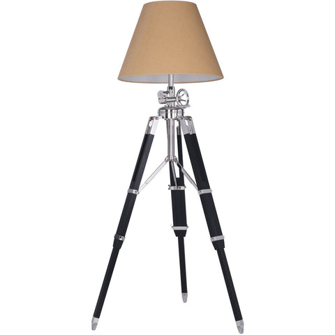 Ansel Tripod 87 Floor Lamp With 1 Light - Chrome Finish Floor Lamp