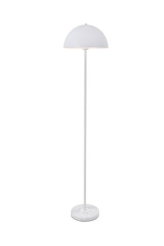 "13.8"" Forte Floor Lamp with 1 light - White Finish"