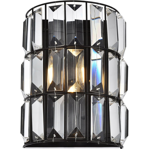 Blair 7.9 Crystal Wall Sconce With 1 Light - Oil Rubbed Bronze Finish Wall Sconce