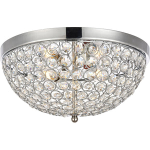 Taye 13.5 Flush Mount With 3 Lights - Chrome Finish Flush Mount