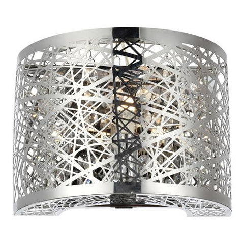 Owen 7.9 Crystal Wall Sconce With 1 Light - Mirror Silver Finish Wall Sconce