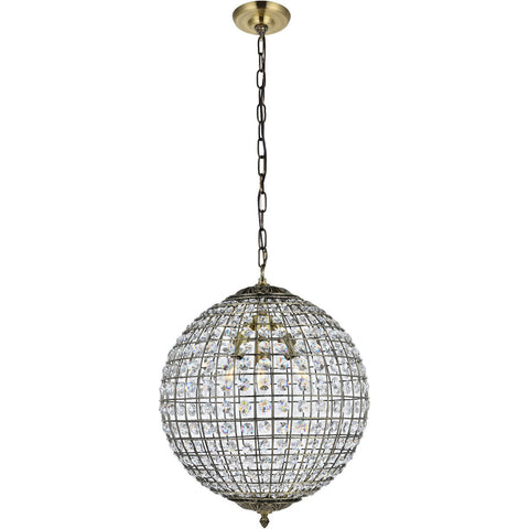 Earlene 16 Pendant With 3 Lights - Antique Bronze Finish Pendant