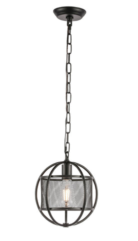 "10"" Zeke Pendant with 1 Light - Black Finish"