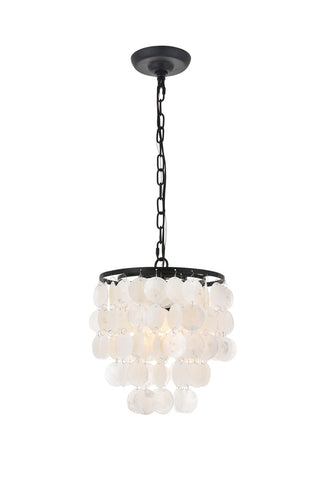 "10"" Selen Pendant with 1 Light - Black and White Finish"