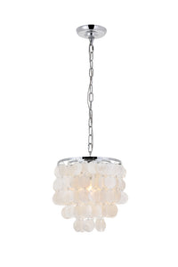 "10"" Selen Pendant with 1 Light - Chrome and White Finish"