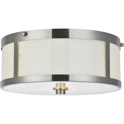 Hadrian 12 Flush Mount With 2 Lights - Burnished Nickel Finish (Ld6018) Flush Mount