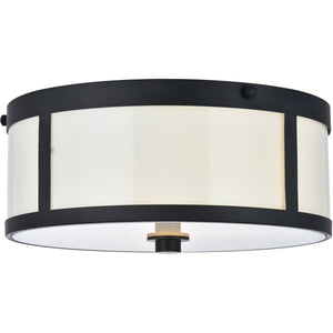 Hadrian 12 Flush Mount With 2 Lights - Flat Black Finish (Ld6019) Flush Mount