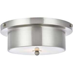 Hamlin 12 Flush Mount With 2 Lights - Burnished Nickel Finish (Ld6020) Flush Mount