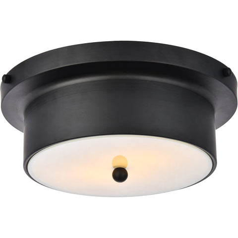 Hamlin 12 Flush Mount With 2 Lights - Flat Black Finish (Ld6021) Flush Mount