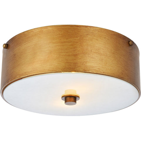 Hazen 12 Flush Mount With 2 Lights - Gilded Gold Finish Flush Mount