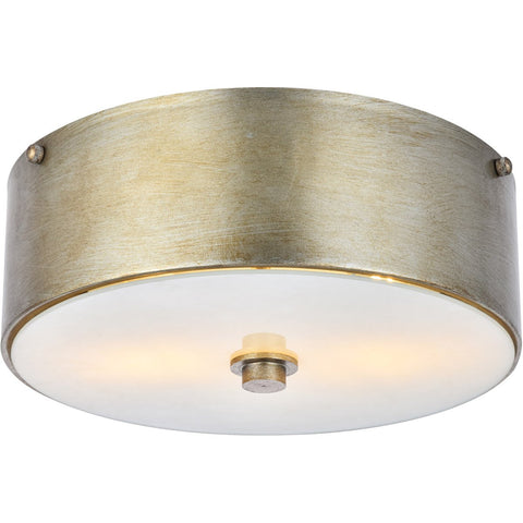 Hazen 12 Flush Mount With 2 Lights - Gilded Sliver Finish Flush Mount