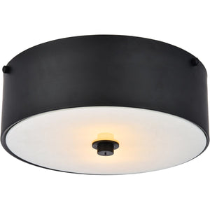 Hazen 12 Flush Mount With 2 Lights - Flat Black Finish Flush Mount