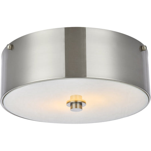 Hazen 12 Flush Mount With 2 Lights - Burnished Nickel Finish Flush Mount