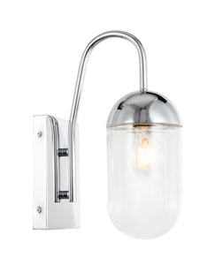 "4.8"" Kace Wall Sconce with 1 Light -  Chrome and Clear Finish"