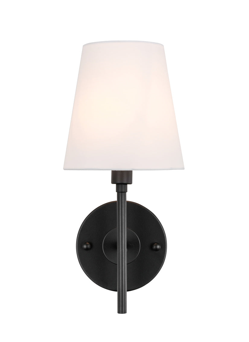 "6"" Cason Wall Sconce with 1 Light -  Black and White Finish"