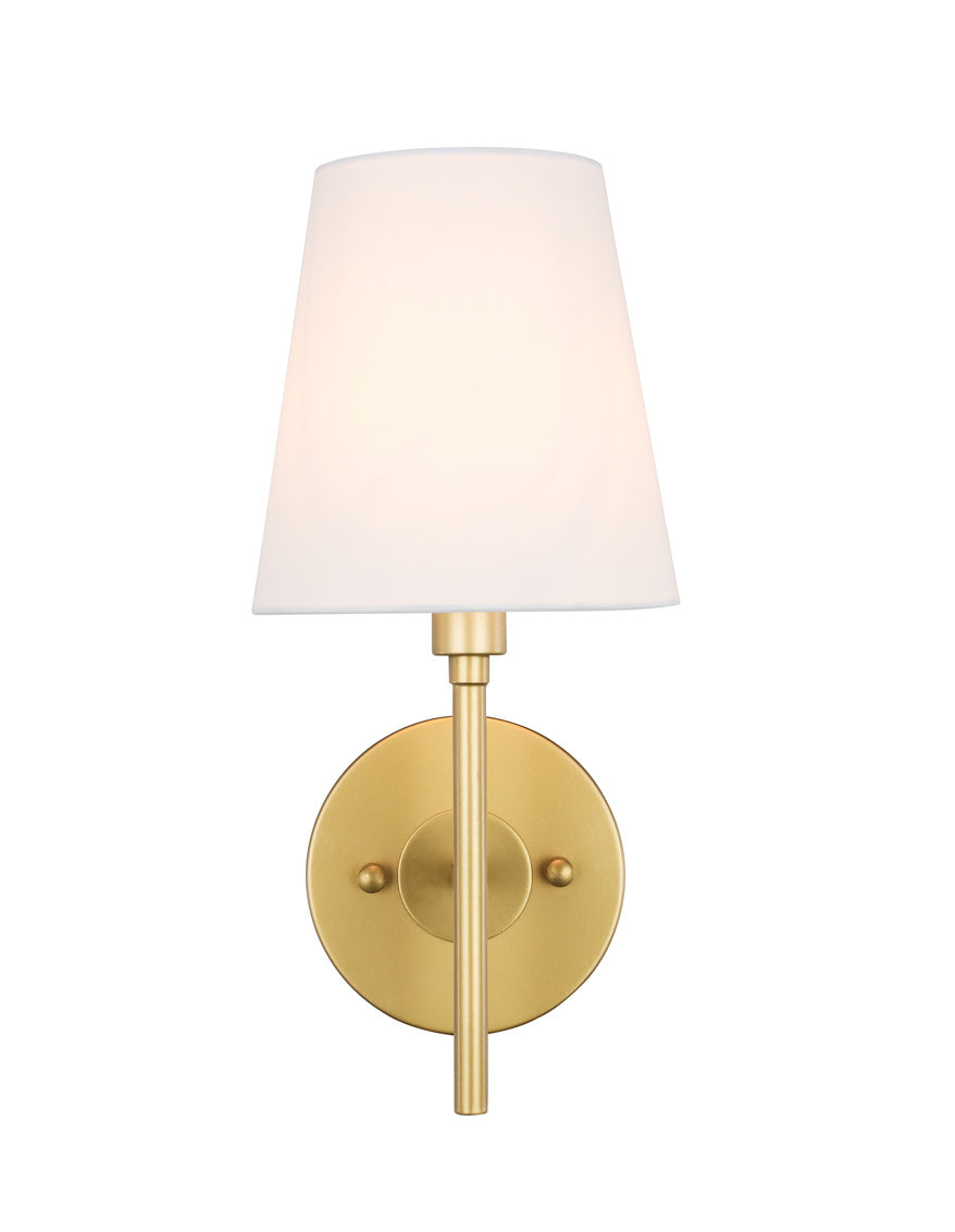 "6"" Cason Wall Sconce with 1 Light -  Brass and White Finish"