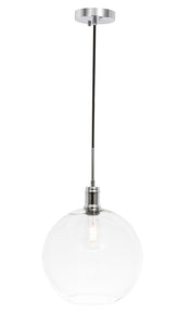 "12.5"" Emett Pendant with 1 Light -  Chrome and Clear Finish"
