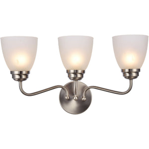 Bale 22 Wall Sconce With 3 Lights - Brushed Nickel Finish Wall Sconce