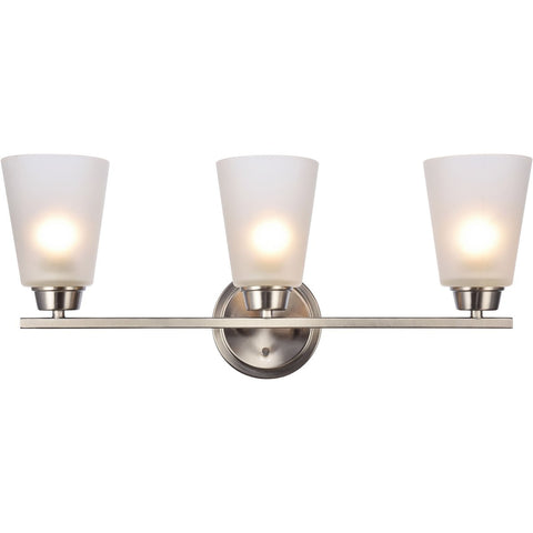 Biff 22 Wall Sconce With 3 Lights - Brushed Nickel Finish Wall Sconce