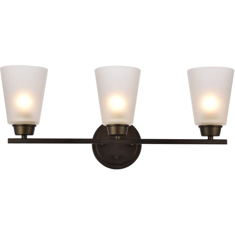 Biff 22 Wall Sconce With 3 Lights - Oil Rubbed Bronze Finish Wall Sconce