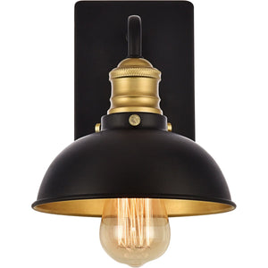 Anders 7 Wall Sconce With 1 Light - Black & Brass Finish Wall Sconce
