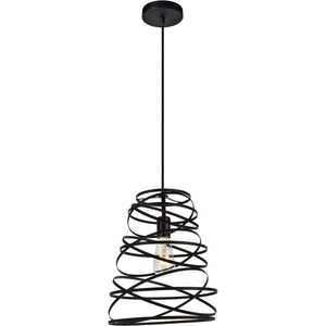 Sybil 11.8 Pendant With 1 Light - Matte Black Finish Pendant