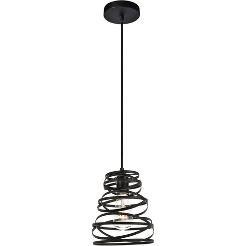 Sybil 7.5 Pendant With 1 Light - Matte Black Finish Pendant