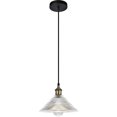 Ondine 9.8 Pendant With 1 Light - Antique Bronze Finish Pendant