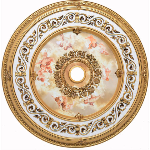 43 Ceiling Medallion - French Gold Finish (Md209D43Fg) Medallion