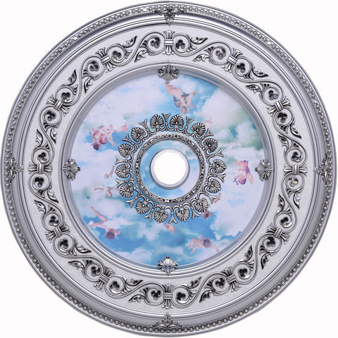 43 Ceiling Medallion - Pewter Finish (Md210D43Pw) Medallion