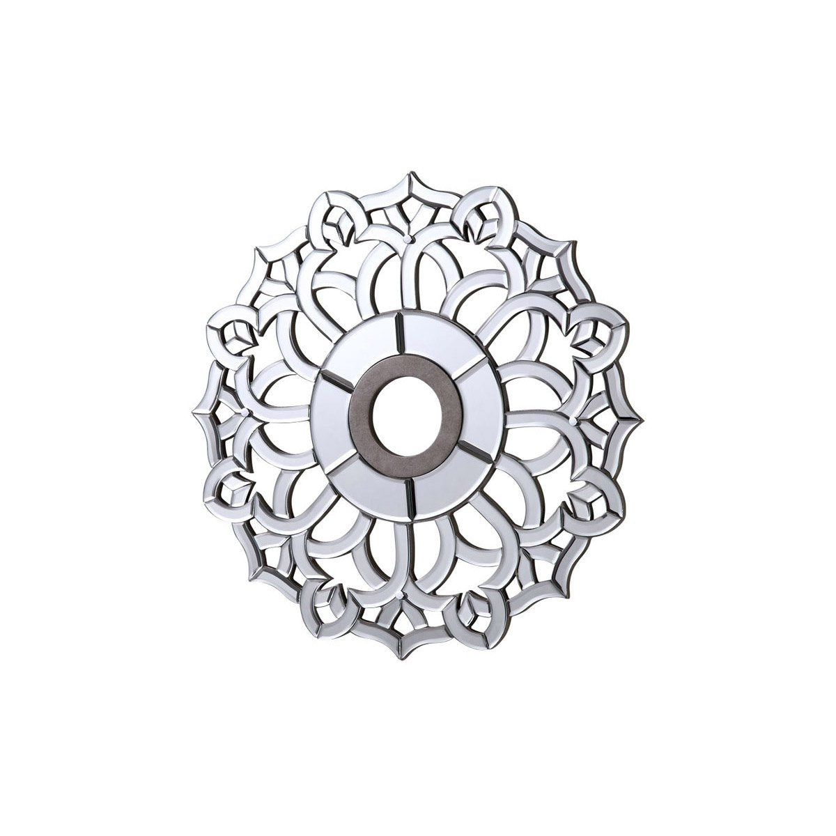 24 Mirrored Medallion - Silver Leaf Finish (Md406D24Sc) Medallion