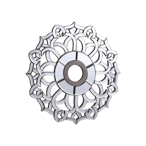 32 Mirrored Medallion - Silver Leaf Finish (Md407D32Sc) Medallion