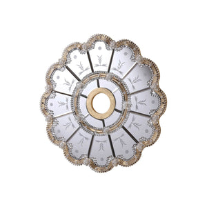 27 Mirrored Medallion - Gold Leaf Finish (Md408D24Gc) Medallion