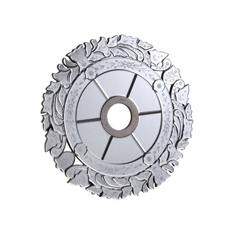 32 Mirrored Medallion - Silver Leaf Finish (Md411D32Sc) Medallion