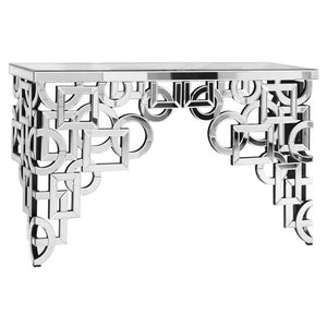 Florentine 58 X 36 Console Table - Antique Silver Leaf Finish (Mf-3002C) Console Table