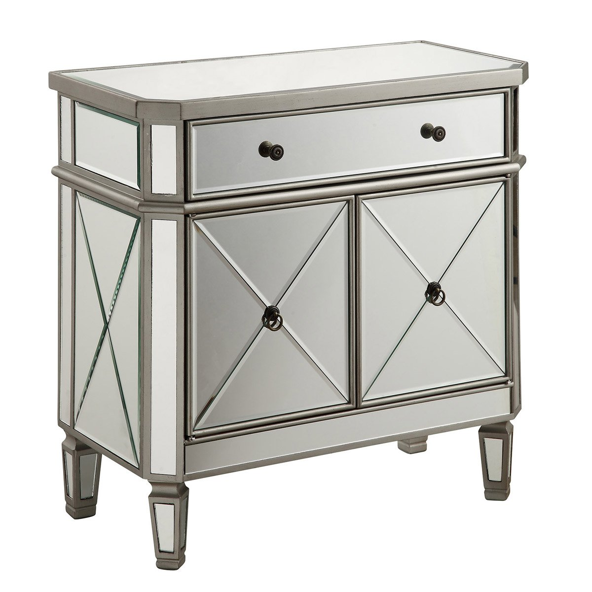 Contempo 32 X 32 1 Drawer 2 Door Cabinet - Antique Silver Finish (Mf6-1002Sc) Cabinet
