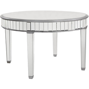 Contempo 48 X 30 Round Dining Table - Antique Silver Finish (Mf6-1008S) Dining Table