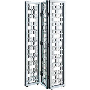Contempo 16 X 73 3-Panel Clear Mirror And Crystal Divider Screen (Mf6-1018) Screen