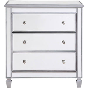 Contempo 33 X 32 3 Drawer Cabinet - Antique Silver Finish (Mf6-1019S) Cabinet