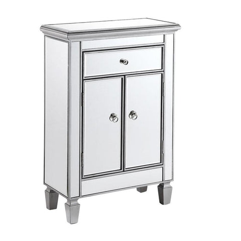 Contempo 24 X 36 1 Drawer 2 Door Cabinet - Antique Silver Finish (Mf6-1020S) Cabinet