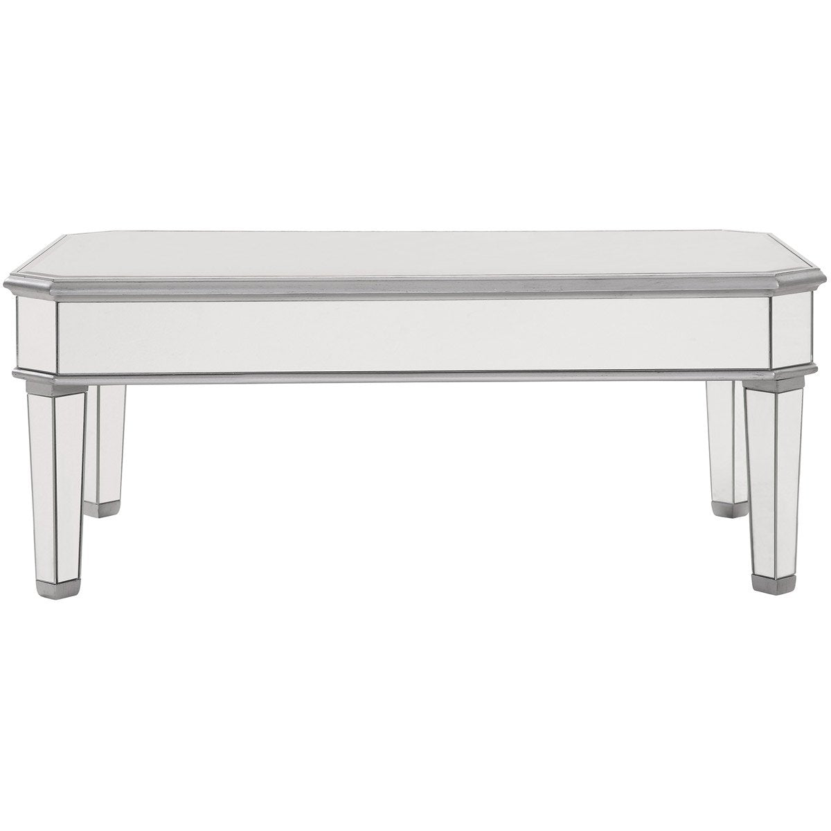 Contempo 48 X 19 Rectangle Coffee Table - Antique Silver Finish (Mf6-1022S) Coffee Table