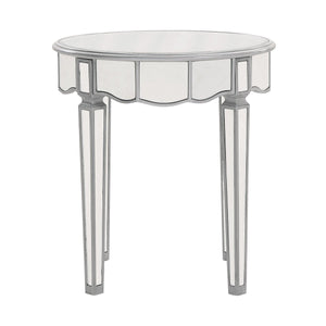 Contempo 24 X 26 Round Lamp Table - Antique Silver Finish (Mf6-1023S) Lamp Table