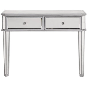 Contempo 40 X 32 2 Drawer Rectangle Table - Antique Silver Finish (Mf6-1024S) Rectangle Table