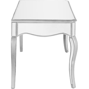 Contempo 52 X 30 3 Drawer Rectangle Desk - Antique Silver Finish (Mf6-1028S) Desk