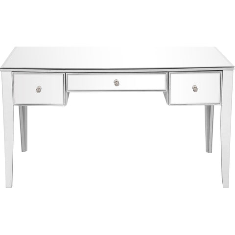 Contempo 54 X 30 3 Drawer Rectangle Desk - Antique Silver Finish (Mf6-1029S) Desk